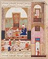 Layla and Majnun at School; Page from a Manuscript of the Khamsa of Nizami LACMA M.73.5.560.jpg