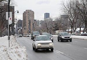Park Avenue (Montreal) - Park Avenue near Pine Avenue