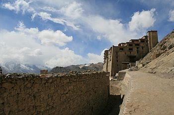 English: A view the Leh palace in the Ladakh r...