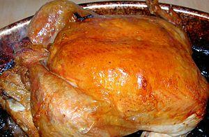 Lemon chicken - Image: Lemon & Garlic Roasted Chicken (8733072162)