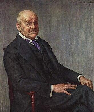 Alfred Lichtwark - A portrait of Alfred Lichtwark, painted by Leopold Karl Walter Graf von Kalckreuth, 1912.