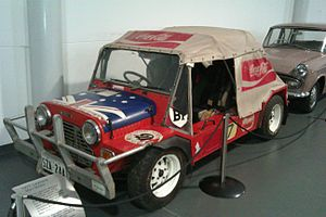 London–Sydney Marathon - The Leyland Moke in which Hans Tholstrup and John Crawford placed 35th in the 1977 Singapore Airlines London to Sydney Rally