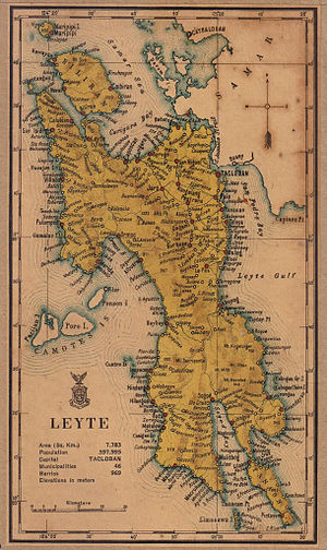 Leyte (province) - Leyte province in 1918, before its division into three provinces, namely Leyte, Southern Leyte and Biliran