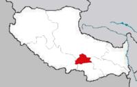 Map of Lhasa