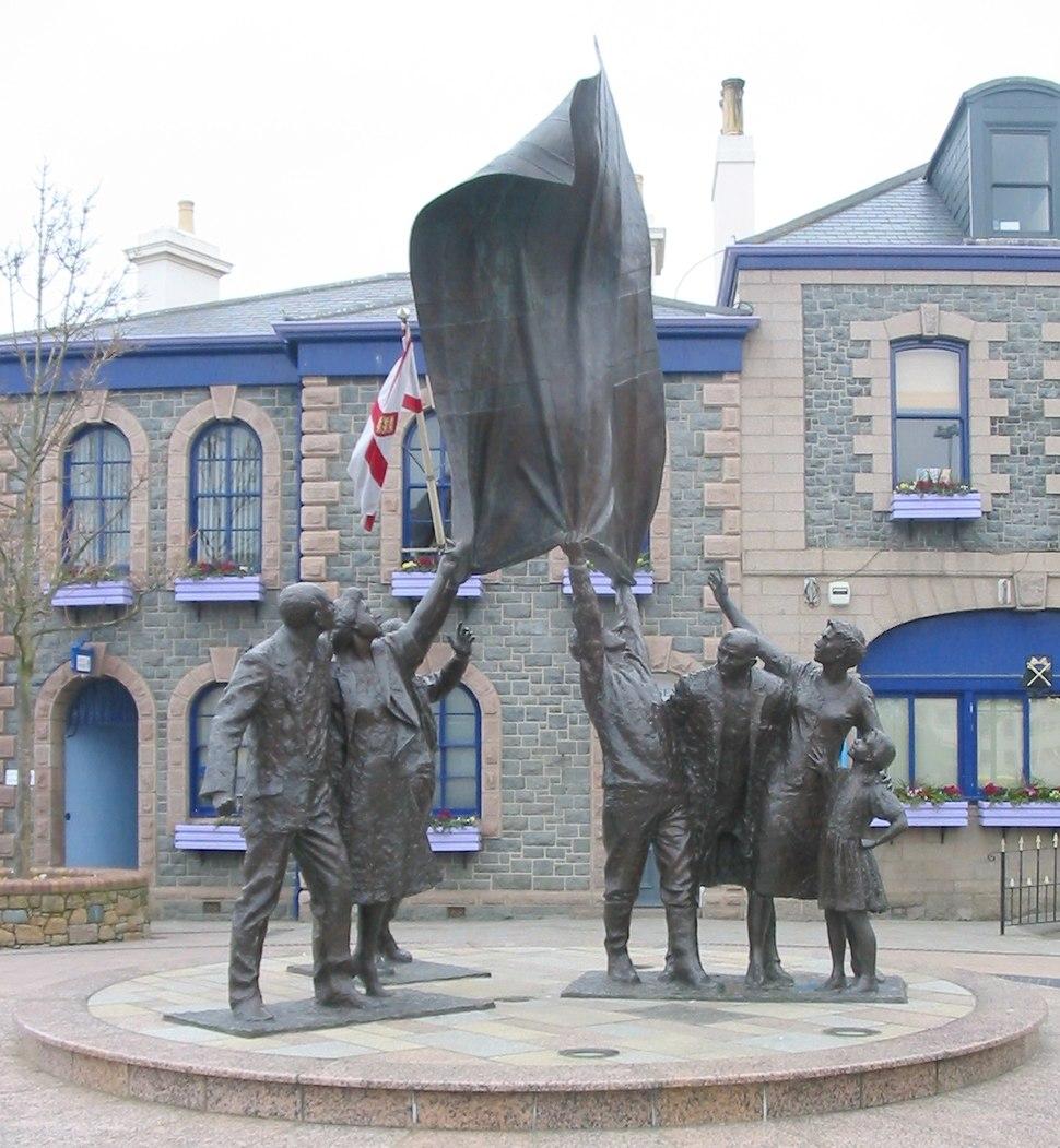 Liberation sculpture Jersey