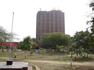 Jawaharlal Nehru University, Delhi - Library building