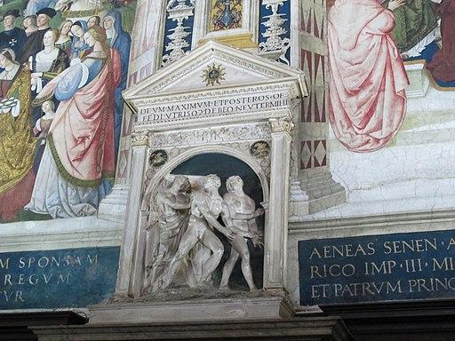 Libreria Piccolomini, Siena, Duomo. La Cacciata dal Paradiso Terrestre