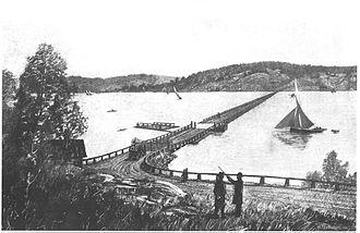 Lidingöbron - Image: Lidingöbron 1884