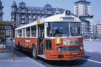 Société des usines Chausson - Image: Ligne 7 Strasbourg place Kléber 1969 bus CTS