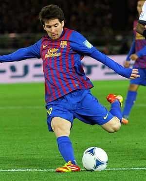 Messi–Ronaldo rivalry - Struggling with growth hormone deficiency as a child, Messi joined Barcelona at the age of 13 with the club paying for his treatment. He made his senior debut in 2003 and had cemented his place in the first team, as well as earning nominations for the Ballon d'Or and the FIFA World Player of the Year awards, by the age of 20.