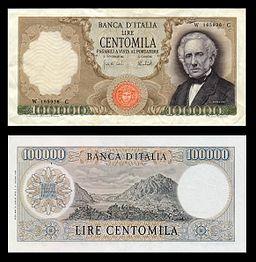 Lire 100000 (Alessandro Manzoni)
