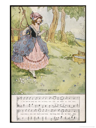 Little Bo-Peep - Illustration by Dorothy M. Wheeler
