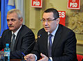 Liviu Dragnea si Victor Ponta la reuniunea BPN al PSD - 24.02.2014 (12747724954).jpg