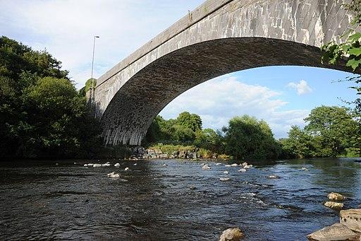 Llandeilo, Carmarthenshire, bridge, the longest single span stone bridge in Wales