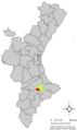 Localització de Cocentaina respecte el País Valencià.png