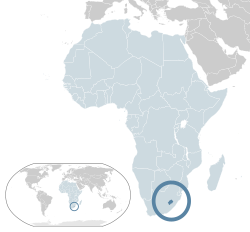 Location of  Lesotho  (dark blue)– in Africa  (light blue & dark grey)– in the African Union  (light blue)