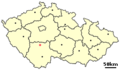 Location of Czech city Milevsko.png