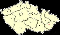 Location of Czech city Vsetín.png