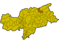Location of Mühlwald (Italy).png
