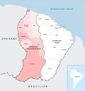 Arrondissement of Saint-Laurent-du-Maroni Arrondissement in French Guiana, France