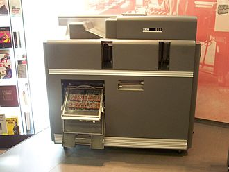 IBM 519 - An IBM 519 Document-Originating Machine with plugboard control panel open (it would be closed during operation).