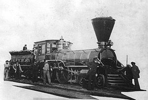 Grand Trunk Railway - Grand Trunk Locomotive Trevithick utilized on the Victoria Bridge, Montreal, 1859
