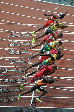 London 2012 Olympic 100m final start