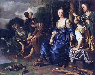 Diana and Her Companions - Jacob van Loo, Diana and Her Nymphs 1648.