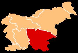 Cviček - Location of Lower Carniola