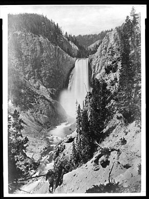 Hayden Geological Survey of 1871 - Jackson's 1871 photo of the Lower Falls of the Yellowstone