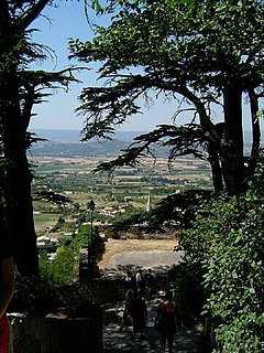 Luberon mountains in France
