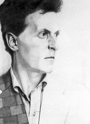 English: Ludwig Wittgenstein / Pencil on board