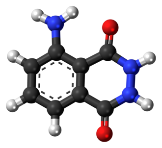 Luminol - Image: Luminol molecule ball