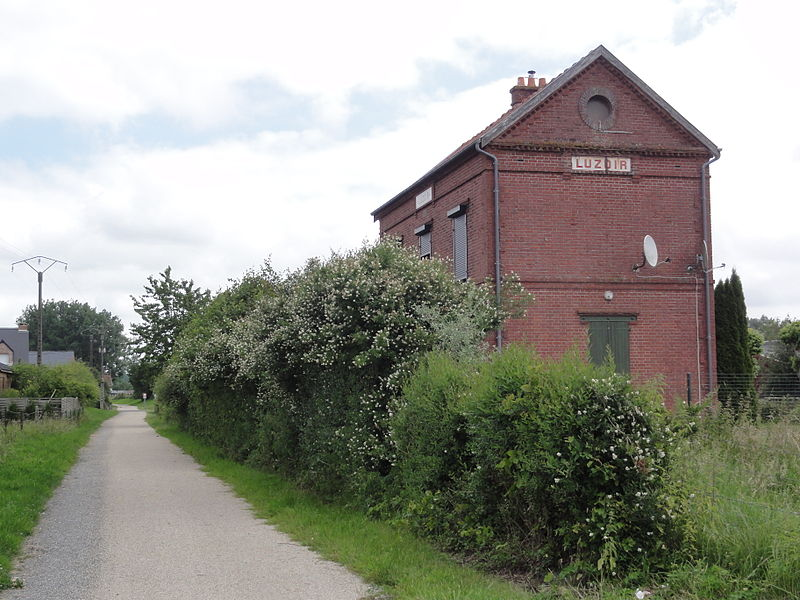 Luzoir (Aisne) ancienne gare, Axe Vert de la Thiéarache
