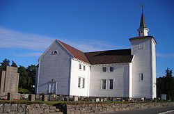 View of the Lyngdal Church