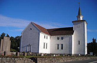 Lyngdal - View of the Lyngdal Church
