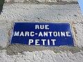Lyon 2e - Rue Marc-Antoine Petit - Plaque (mars 2019).jpg