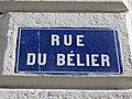 Lyon 2e - Rue du Bélier - Plaque (mars 2019).jpg