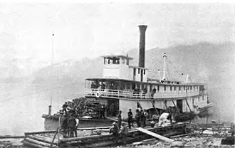 Lytton (sternwheeler) - Lytton (in center), with Trail