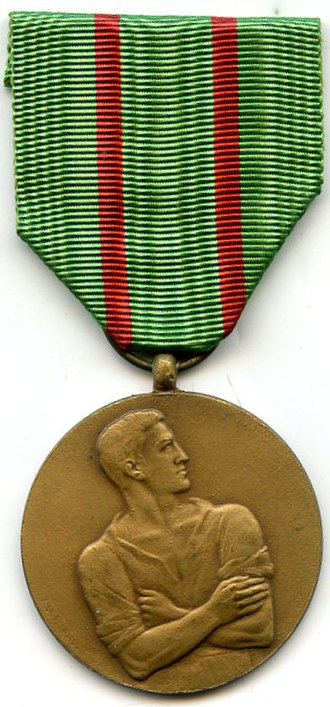 Civilian Disobedience Medal - Image: Médaille du Réfractaire Belgique Avers