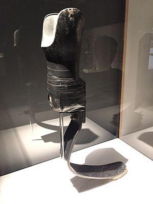 Aimee Mullins - Aimee Mullins leg shown at CCCB exhibit in Barcelona