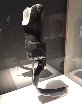 Aimee Mullins - Aimee Mullins' prosthetic leg shown at CCCB exhibit in Barcelona