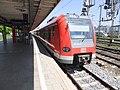 München- Bahnhof Donnersbergerbrücke- auf Bahnsteig zu Gleis 4- Richtung München Hauptbahnhof (S-Bahn München 423 458-9) 26.5.2012.JPG