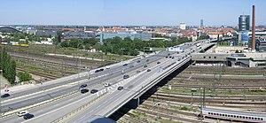 München - Donnersbergerbrücke (Panorama).JPG