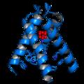 M2 influenza A proton channel amantadine 3C9J.png