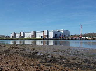 Vestas - MHI Vestas factory beside the River Medina, Isle of Wight, UK