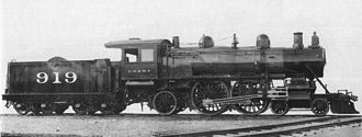 4-4-2 (locomotive) - Milwaukee Road class A2 no. 919, 1901