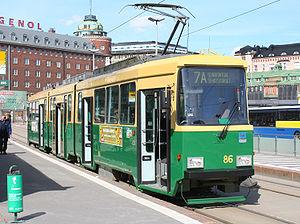 Helsinki tram - Valmet MLNRV in Hakaniemi