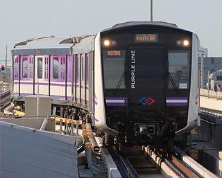 MRT Purple Line Second line of Bangkoks underground metro system.