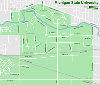 Campus Of Michigan State University  Map The Full Wiki